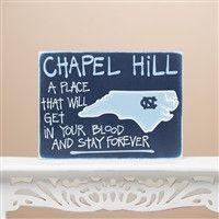 Glory Haus University of North Carolina Map Sign