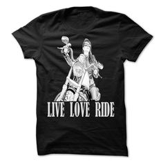 Live Love Ride Woman on Motorcycle T Shirt and Matching T-Shirts, Hoodies. VIEW DETAIL ==► https://www.sunfrog.com/Sports/Live-Love-Ride-Woman-on-Motorcycle-T-Shirt-and-Matching-Hoodie.html?id=41382