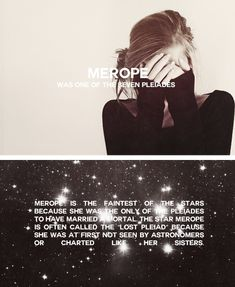 Merope - the star who married a mortal