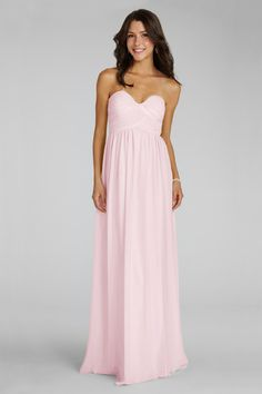 A Petal sweetheart neckline and flirty skirt  flatter  everyone  that  wears  this  delicate  chiffon gown.