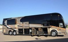 #TouringAsAnArtist - The Outlaw coach is a motor-home built from a Prevost H3-45 bus and sells for a hefty $2,000,000!