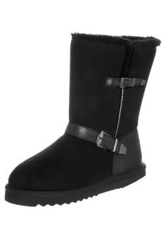 UMA BUCKLE - Vinterstøvler - sort - Bamsestøvler - skønne til en hyggedag kulden.