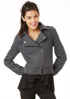 Belted Moto Jacket - Coats - Clothing - dELiA*s