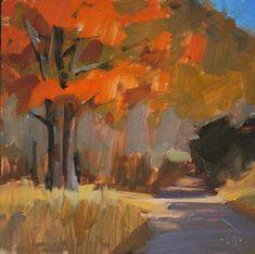 """Fall Colors - SOLD"" - Original Fine Art for Sale - © Carol Marine"
