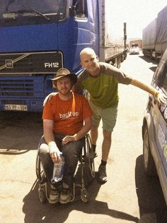 Mongol Rally, Day 22: Inspiring moments. Pete added a bit of perspective to the journey. He was making the 10,000-mile trip in a wheelchair.