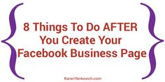8 things after create Facebook business page