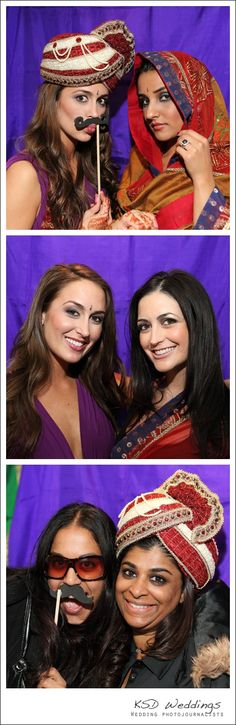 Instead of paying for a traditional photo booth, tanaRi events showcased a custom Indian inspired booth with a sari backdrop and draping with props like pagris and bindis in addition to the traditional boas and oversized sunglasses. Get as creative as you can and hire a photographer by the hour to recreate this at your reception!