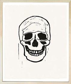 Hugo Guinness Skull Print in vintage frame
