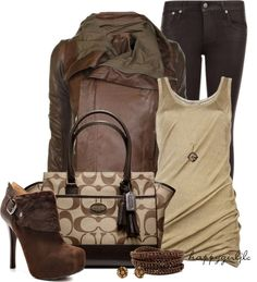 """""""50 SHADES OF BROWN"""" by happygirljlc on Polyvore"""