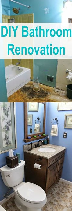 DIY Bathroom Renovation ~ 4 days on a $2,500.00 Budget