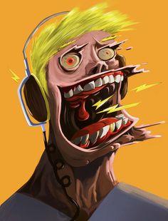 Headsnack Exploding Head Logo, Moe Murdock on ArtStation at https://www.artstation.com/artwork/headsnack-exploding-head-logo