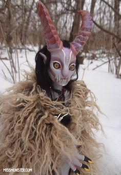 Eusapia, my first jointed doll is up for bids! This is Eusapia the demon! She stalks winter forests leaving mysterious melted hoof prints in the fresh snow. If she visits your camp at night , offer...