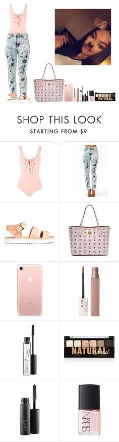 """""""-Glo Queen"""" by thegloup-reina on Polyvore featuring Topshop, MCM, Maybelline, MAC Cosmetics, NYX and NARS Cosmetics"""