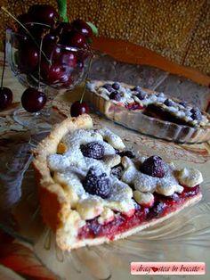 Dragostea in bucate: PLACINTA CU CIRESE Dessert Recipes, Desserts, Waffles, Pie, Breakfast, Food, Tailgate Desserts, Torte, Morning Coffee