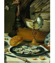 Still Life with Turkey Pie (Peter Claesz, 1627, oil on panel), detail