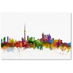 Toronto Canada Skyline by Michael Tompsett Graphic Art on Wrapped Canvas