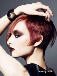 2015 asymmetric redhead undercut hairstyle - Hairstyle Gallery
