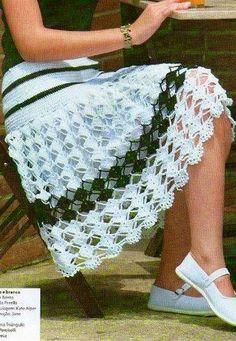 Falda en blanco y negro