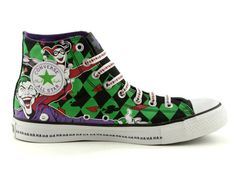 8fadcec196b8a5 Converse All Star Hi Joker Athletic Shoe  Joker Harley Quinn. Getting these  bad boys for school shoes this year!