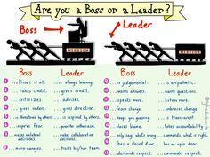 Are You a Boss or a Leader via Sylvia Duckworth