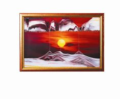 Moving Sand Art Picture Golden Sun in Movie Series