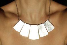 Just in: Silver bib necklace Statement jewelry Light necklace Bib silver necklace Fashion necklace Gift modern Minimal necklace Big jewelry Gift sets https://www.etsy.com/listing/491474353/silver-bib-necklace-statement-jewelry?utm_campaign=crowdfire&utm_content=crowdfire&utm_medium=social&utm_source=pinterest