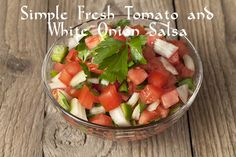 Tomatoes, onion and lime combine with cilantro, extra-virgin olive oil and cilantro, to bring you this exquisite but beautifully simple salsa. Its beauty lies in the use of fresh ingredients.