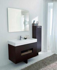 umywalka z szafką w łazience na dole. ten styl tylko pewnie mniejsza