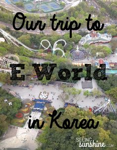 Visiting Daegu, South Korea? You have to go to E-World to experience the culture at this amusement park. Fun rides and weird foods to try!