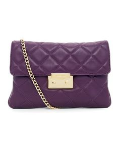 MICHAEL Michael Kors  Sloan Quilted Clutch. This bag would be so cute in black. Chanel like