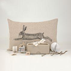East of India hare cushion