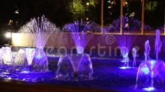 Video about Fountain illuminated in blue decorative in the night. Video of garden, liquid, reflection - 78133718 Fountain, Royalty Free Stock Photos, Scene, Architecture, Night, Blue, Decor, Arquitetura, Decoration