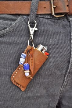 Handstitched Leather lighter case