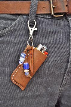 Handstitched Leather lighter case