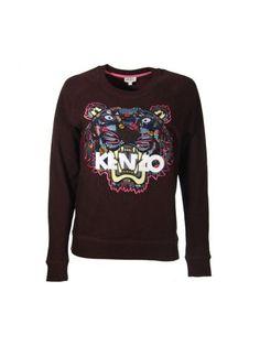 KENZO Felpa Tiger Kenzo Viola. #kenzo #cloth #fleeces-tracksuits
