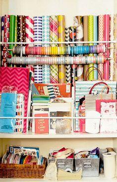 Rangement DIY pour papier cadeau !