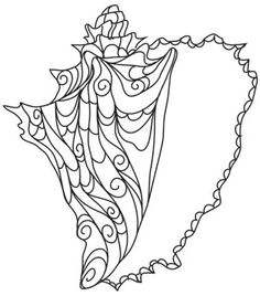 From the mysterious depths of the ocean comes a tranquil beauty, captured in this haunting conch shell design. Stitch onto decor, clothing, and more. Downloads as a PDF. Use pattern transfer paper to trace design for hand-stitching.
