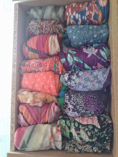 Hecho a Mano x Josefina: organizar pañuelos y bufandas en cajones