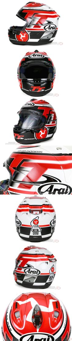 Each year Arai designs and produces a very limited amount of their Isle Of Man TT helmets. This is the 2016 version: Arai Corsair-X Limited Edition 2016 Isle Of Man TT Full Face Helmet. Click through to learn more about it and/or to purchase. You won't want to wait, once they're gone they are gone!