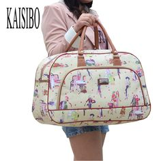 Price tracker and history of KAISIBO Women Waterproof Travel Bag Summer Style  PU Leather Women Bag Travel Duffel Bag New Tower Beauty Lady Print Luggage f838ea2497