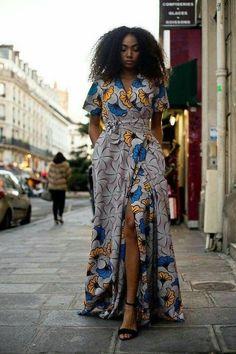 Ankara wrap dress African print for women African print dress long Maxi dress Ankara for women flare wrap dress Yael maxi wrap dress Latest African Fashion Dresses, African Print Dresses, African Dresses For Women, African Print Fashion, African Wear, African Attire, Africa Fashion, African Prints, African Style