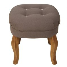 Contrast Button Cotton Stool | Footstools | Oliver Bonas