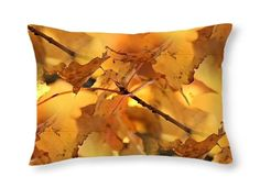 Canopy of Gold ~ 12x17 RECTANGLE OBLONG THROW PILLOW ~ Exclusive Nature Design #ExclusiveCustomDesignCustomMade #Contemporary