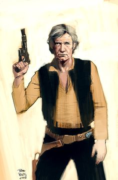 Old Han Solo by ~RodReis on deviantART..Probably have to have seen both Stars Wars and  Aliens and Cowboys to really appreciate it. cool!