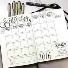 """Résultat de recherche d'images pour """"bullet journal calendar"""""""