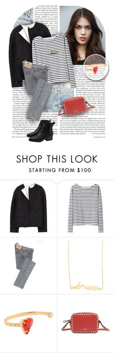 """189. Monnier Freres"" by auroram ❤ liked on Polyvore featuring Marni, Wood Wood, Maria Francesca Pepe and Valentino"