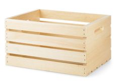 Wooden crates.  We could spray paint these and use them for the train cars, but what will we do for the engine?