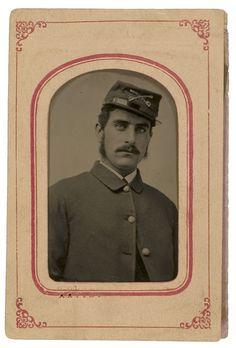 Civil War tintype of Brainard