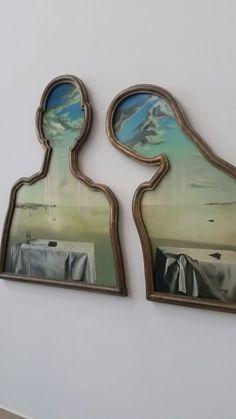 Couple aux têtes pleines de nuages Door Salvador Dali In 1936