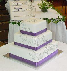 Purple Wedding Cakes | Purple and Silver Wedding Cake | Flickr - Photo Sharing!.